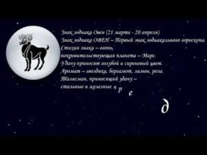 Личный гороскоп на день 20 апреля знак зодиака Овен