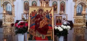 Православная икона Всецарица в Новоспасском монастыре