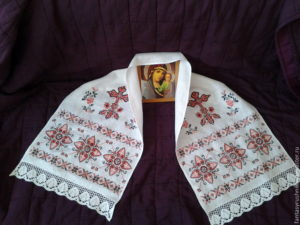 Рушник на христианскую икону