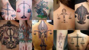 Татуировки подходящие знаку зодиака Весы