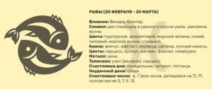 В каких числах года знак зодиака Рыбы