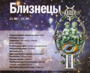 Гороскоп на день 19 июня под знаком зодиака Близнецы