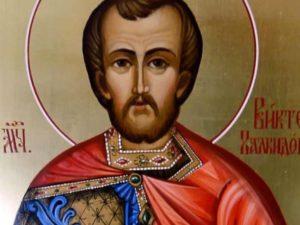 Христианская икона святой Виктор
