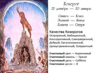 Личный гороскоп на день 20 января в знаке зодиака Козерог