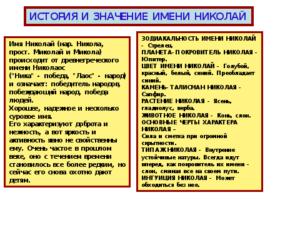 Значение и толкование имени для мальчика Николай