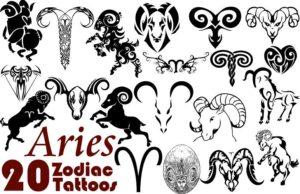 Самые интересные тату знак зодиака Овен